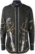 Dolce & Gabbana sword baroque print shirt