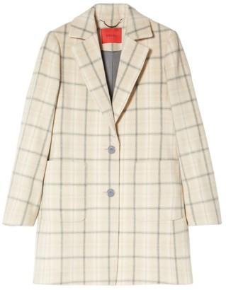 Max & Co. Check Wool Coat