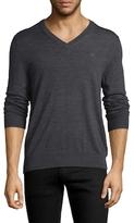 Brooks Brothers V-Neck Merino Wool Sweater