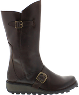 Fly London Mes Wedge Heeled Calf Boots, Dark Brown
