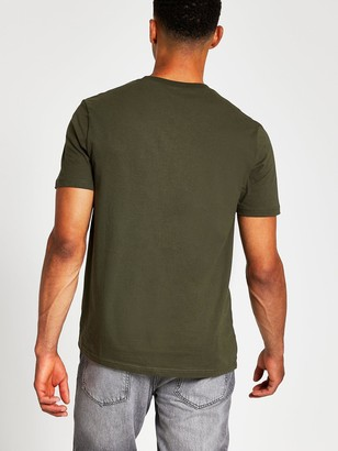 River Island Slim Fit Crew Neck T-shirt - Khaki