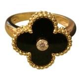Van Cleef & Arpels Alhambra Black Yellow gold Rings