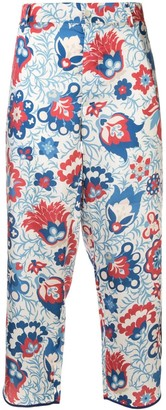 Jejia floral print cropped trousers