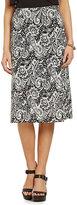 Bobeau Printed Knee Length Skirt