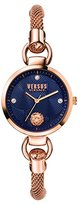 Versus By Versace Women's 'Roslyn Bracelet' Quartz Stainless Steel Casual Watch, Color:Rose Gold-Toned (Model: S63070016)