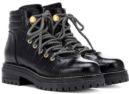 Max Mara Aligi leather lace-up ankle boots