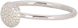 Ron Hami 14K White Gold Pave Diamond Disc Ring - 0.11 ctw