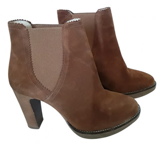 Minelli Camel Suede Ankle boots