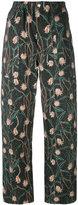 Isabel Marant floral print trousers - women - Cotton/Linen/Flax - 38