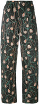 Isabel Marant floral print trousers - women - Cotton/Linen/Flax - 42