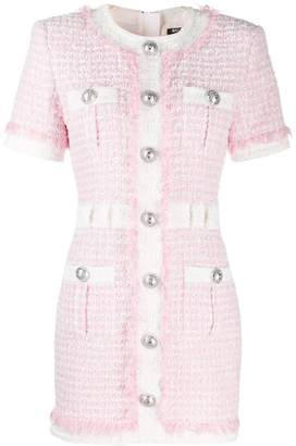 Balmain buttoned tweed dress