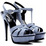 Saint Laurent Tribute Co 105 Denim Sandals