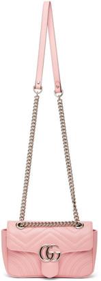 Gucci Pink Mini GG Marmont 2.0 Shoulder Bag