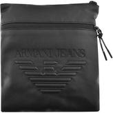 Giorgio Armani Jeans Faux Leather Small Shoulder Bag Black