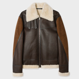 Paul Smith Men's Brown Shearling And Lamb Leather Jacket