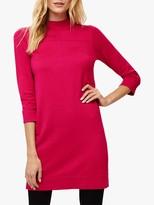 Phase Eight Funnel Neck Knit Dress, Fuchsia