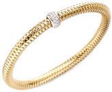 Roberto Coin Primavera Diamond & 18K Yellow Gold Woven Bracelet