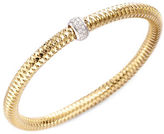 Roberto Coin Primavera Diamond and 18K Yellow Gold Woven Bracelet