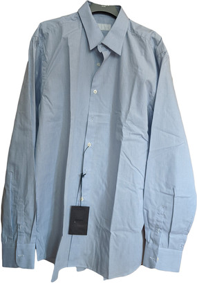 Prada Blue Cotton Shirts