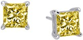 Lafonn Platinum Plated Sterling Silver Princess Cut Simulated Diamond Stud Earrings