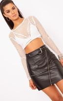 PrettyLittleThing Black Biker Belted Mini Skirt