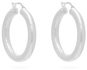 Bottega Veneta Sterling Silver Hoop Earrings - Womens - Silver