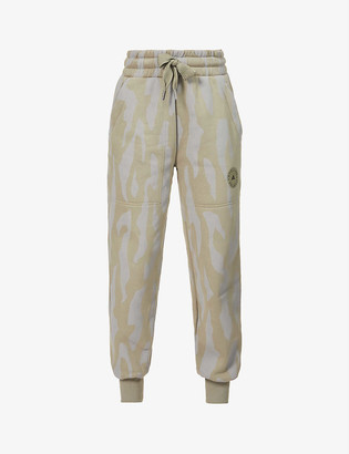 adidas by Stella McCartney College cotton and recycled polyester-blend jogging bottoms