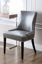 Grey Kandra Leather Nailhead Dining Chair
