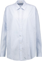 Tanya Taylor Striped cotton-poplin shirt