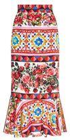 Dolce & Gabbana Mambo Flared Maxi Skirt