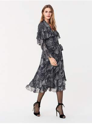 Diane von Furstenberg Martina Ruffled Chiffon-Blend Midi Wrap Dress