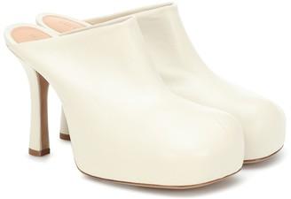 Bottega Veneta Bold leather platform mules