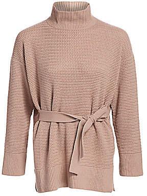 Agnona Women's Open Weave Belted Knit Cashmere Sweater