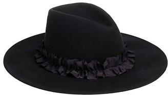 Eugenia Kim Harlowe Gathered Ribbon Band Wide-Brimmed Wool Fedora