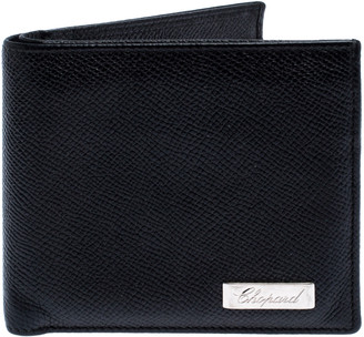 Chopard Black Leather Classic Bifold Wallet
