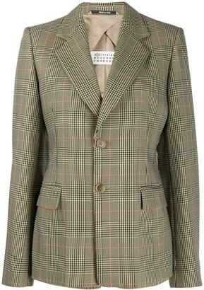 Maison Margiela check print blazer