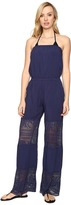 Becca by Rebecca Virtue Prairie Rose Jumpsuit Cover-Up Women's Swimsuits One Piece