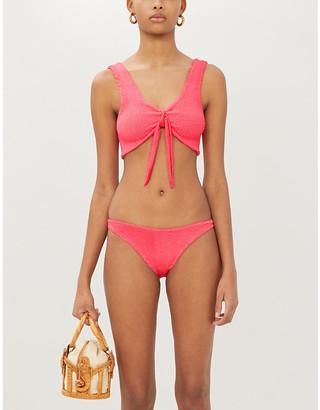 Hunza G Angela tied-front mid-rise bikini