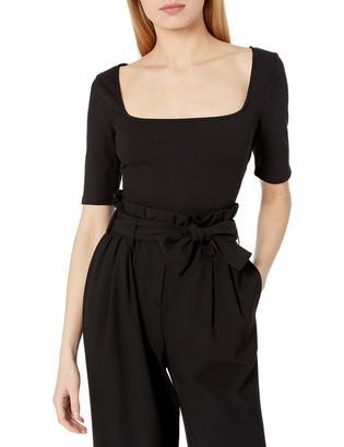 ASTR the Label Women's Short Sleeve Skye Square Neck Bodysuit