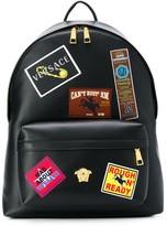 Versace badge applique backpack