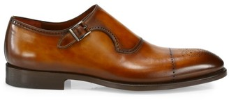 Saks Fifth Avenue COLLECTION Single Monk-Strap Leather Dress Shoes