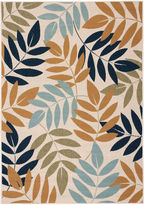 Nourison Leaves Indoor/Outdoor Rectangular Rug