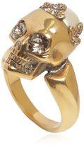 Alexander McQueen Skull Ring W/ Swarovski Pearl
