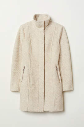 H&M Short Wool-blend Coat - Beige