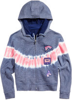 GUESS Tie-Dyed Hoodie With Patches, Big Girls (7-16)