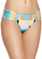 Mara Hoffman Diamond Side Ruched Bikini Bottom