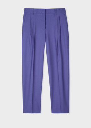 Paul Smith A Suit To Travel In - Women's Tailored-Fit Lilac Wool Trousers