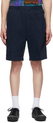 Acne Studios Blue Cotton Twill Shorts