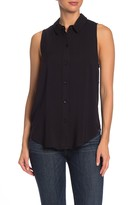 BCBGeneration Sleeveless Drawstring Back Shirt