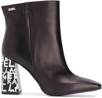 Karl Lagerfeld Paris Metro Graffiti-heel ankle boots